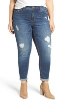 Melissa McCarthy Plus Size Women's Stretch Straight Leg Jeans