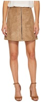 Bishop + Young Suede Zip-Up A-line Skirt Women's Skirt
