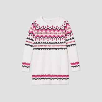 Cat & Jack Girls' Long Sleeve Fair Isle Sweater Dress - Cat & JackTM