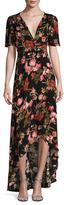 Floral Print High Low Maxi Dress