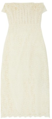 Brock Collection Ruffled Cotton-blend Guipure-lace Dress - Ivory