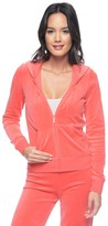 Juicy Couture Outlet - LOGO VELOUR FILAGREE CROWN ORIGINAL JACKET