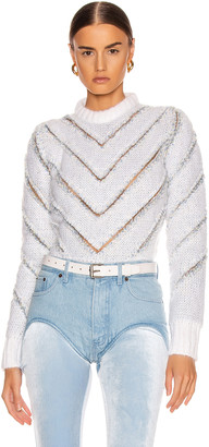 Y/Project Slashed Mohair Sweater in White | FWRD