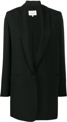 LA COLLECTION Silk Relaxed Single-Breasted Blazer