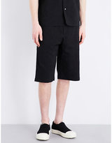 Oamc Wide-leg Jacquard Shorts