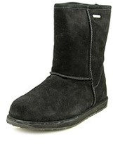 Emu Paterson Leather Lo Women Round Toe Suede Black Winter Boot.
