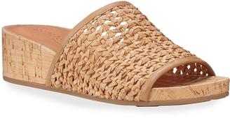 Gentle Souls Gisele Woven Demi-Wedge Slide Sandals