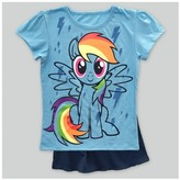 My Little Pony Toddler Girls' Cape Short Sleeve T-Shirt - Light Blue