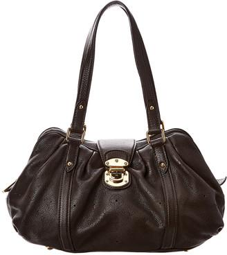Louis Vuitton Brown Mahina Leather Lunar Pm