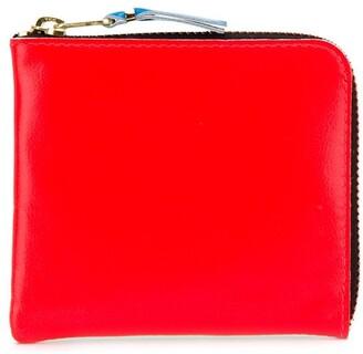 Comme des Garcons Super Fluo zip-around wallet