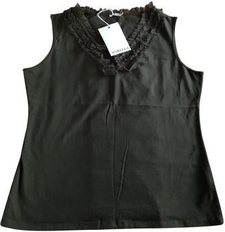 Marella Green Cotton Top for Women