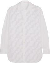 See by Chloe Appliquéd mesh cotton shirt