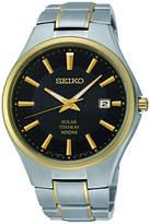 Seiko Sne382p9 Two Tone Titanium Bracelet Strap Watch, Silver/gold