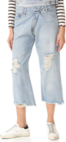 Maison Margiela Destroyed Cropped Jeans