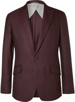 Hackett - Burgundy Duke Basketweave Wool Blazer