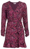 Parker Alison Floral Long-Sleeve Ruffle Dress