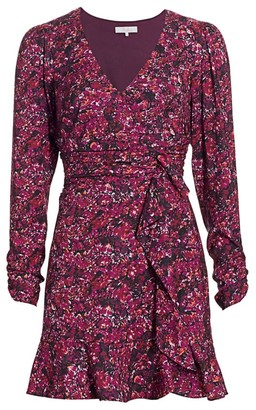 Parker Alison Floral Long-Sleeve Ruffle Dress