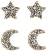 ABS by Allen Schwartz Star & Moon Stud Earrings, Set of 4