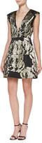 Alice + Olivia Pacey Metallic Jacquard Structured Dress
