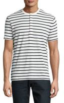 French Connection Jean Striped Cotton Tee