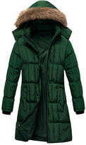 U2wear Women's Puffer Coats Forest - Forest Green Faux Fur-Trim Hooded Quilted Coat - Women & Plus