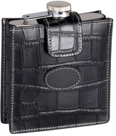 Royce Leather Croco 5 oz Flask 949-5