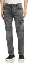 True Religion Rocco Cargo Moto Slim Fit Jeans in Black
