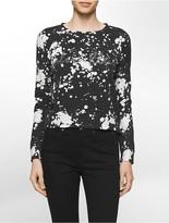 Calvin Klein Spot Bleached Logo Cropped Sweatshirt