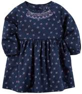 Carter's Baby Girl Embroidered Neck Flower Printed Dress
