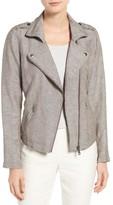 Nic+Zoe Petite Women's Linen Blend Biker Jacket