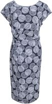 House of Fraser Havren Printed Side Draped Silk Dress