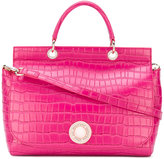 Versace textured tote bag - women - Polyurethane/Synthetic Resin - One Size