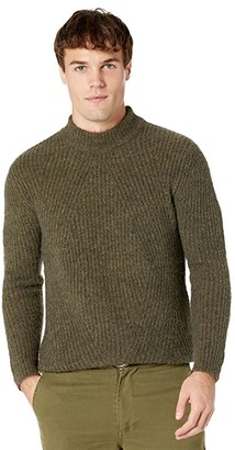 NATIVE YOUTH Jasper Knitted Wool High Neck Jumper (Khaki) Men's Clothing