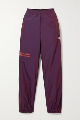 Adidas Originals By Alexander Wang Embroidered Printed Shell Track Pants - Dark purple