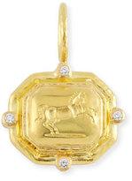 Elizabeth Locke Octagonal Horse Pendant with Diamonds