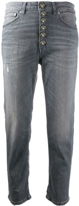 Dondup High Rise Cropped Jeans
