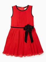Kate Spade Toddlers pleated chiffon dress