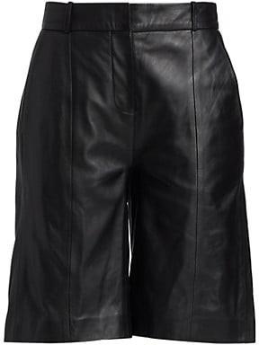 LOULOU STUDIO Leather Bermuda Shorts