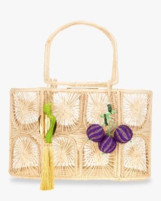 Mercedes Salazar Woven Parrot Handbag