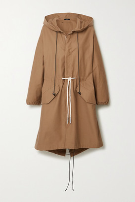 Bassike Hooded Cotton-gabardine Jacket - Beige