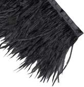 Neotrims Fur Neotrims Luxurious High Fashion Real Ostrich Feather Quality Fur Satin Ribbon Trimming Fringe 10-12 cm. Two Stunning Colours: Natural Cream or . Great Price