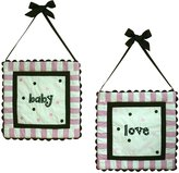 My Baby Sam Baby Love 2 Piece Hanging Wall Art, Pink