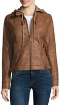 Joujou Jou Jou Faux Leather Hooded Moto Jacket-Juniors