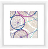 """PTM Images Bicycle Wheels II Framed Giclee Print - 14\"""" x 14\"""""""