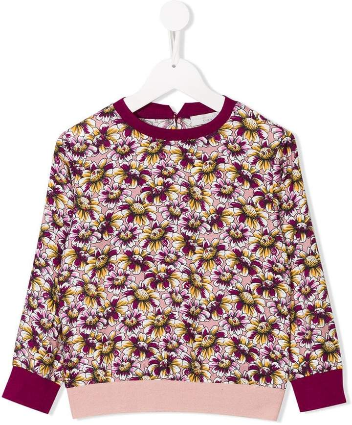 Stella McCartney daisy print sweatshirt