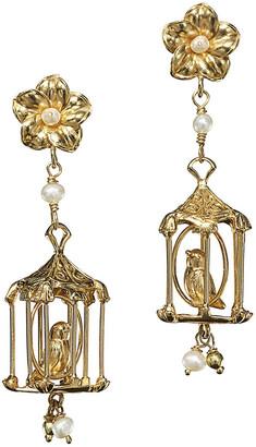 OF RARE ORIGIN Pagoda Pearl Drop Earrings