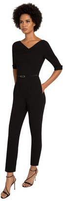 Black Halo 3/4 Sleeve Jackie Jumpsuit