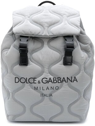 Dolce & Gabbana Wave-Quilted Backpack