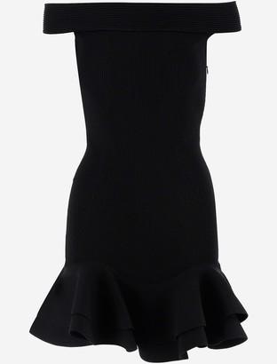 Alexander McQueen Black Stretch Viscose Women's Dress
