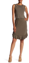 Max Studio Knit Flounce Skirt
